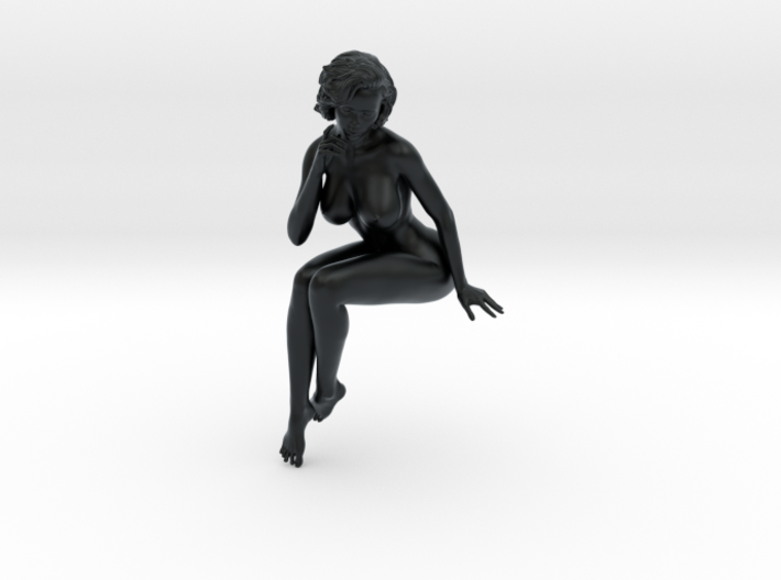 Girl with sofa 017 1/18 3d printed