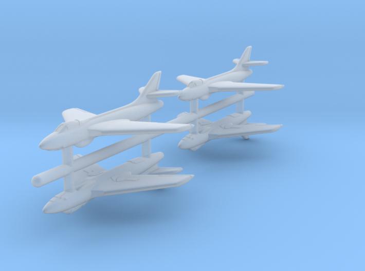 1/700 Hawker Hunter (x4) 3d printed