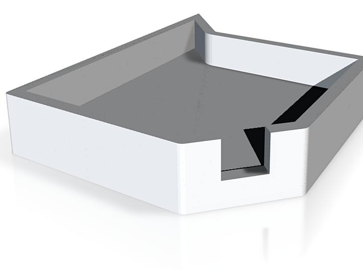 Teselated Ashtray 3d printed Single ashtray in Gloss Black Ceramic