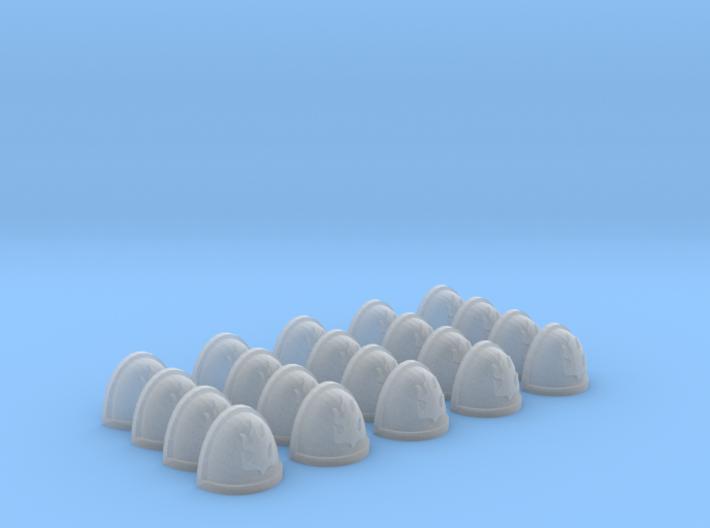 20 Shoulder Pads Flame #4 3d printed