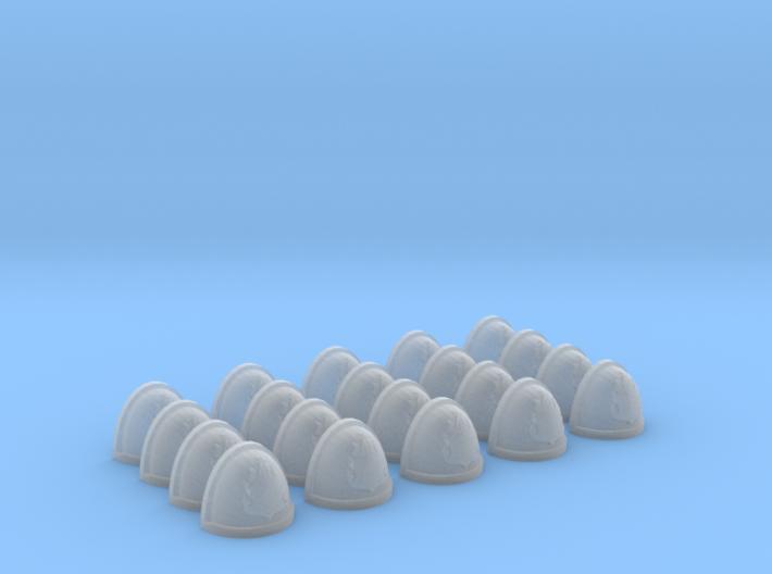 20 Shoulder Pads Flame #6 3d printed