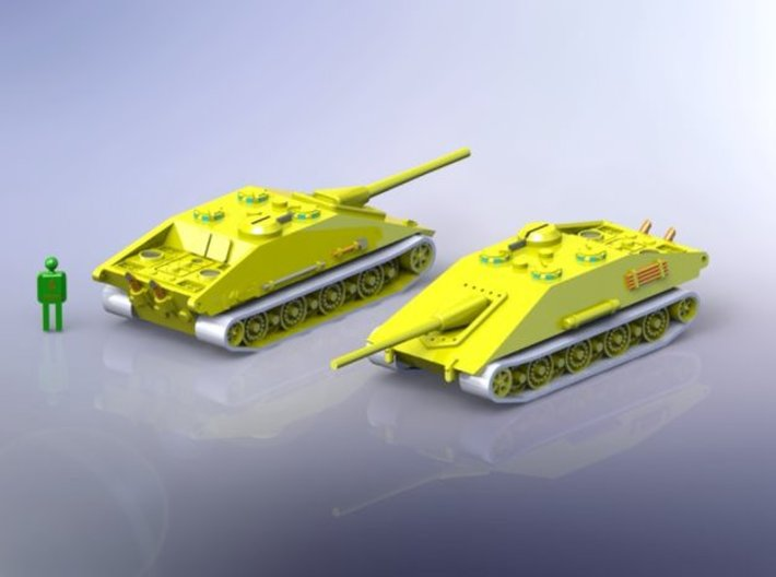 German E-100 Krokodil Tank Hunter 1/144 3d printed Set contains 1 x Krokodil