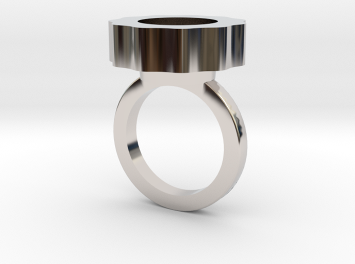 Flower Power Statement Ring 3d printed