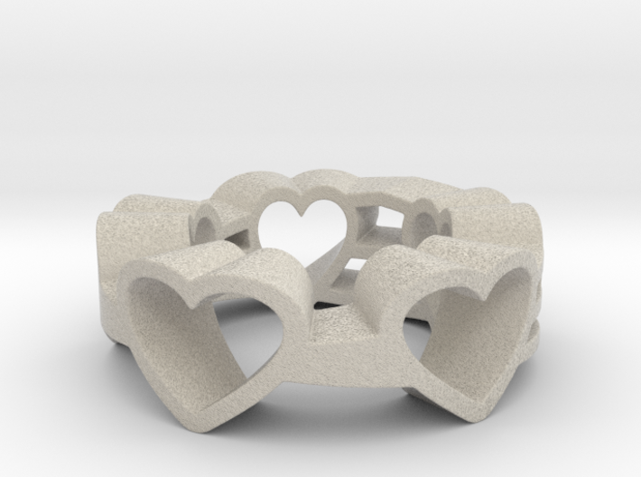 Love Lines Ring 3d printed