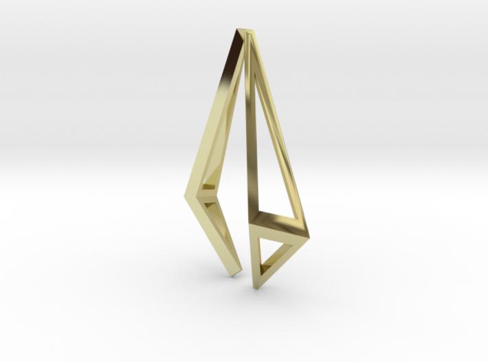 HIDDEN HEART Origami Structure, Pendant 3d printed