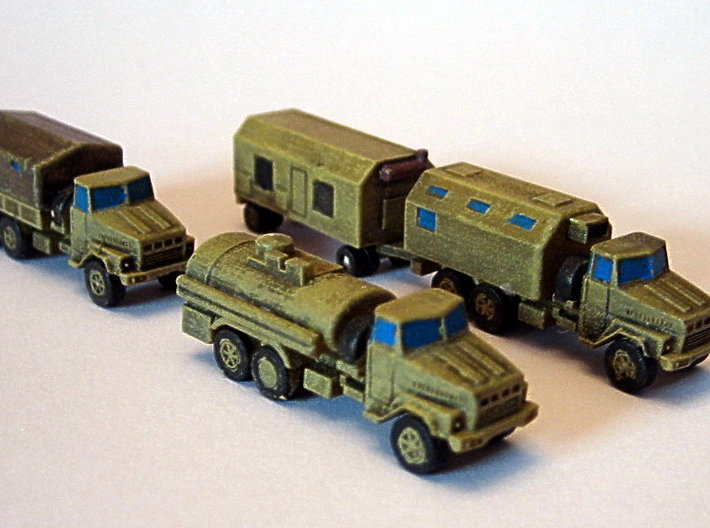 KRaZ 260 Trucks 1/285 6mm 3d printed