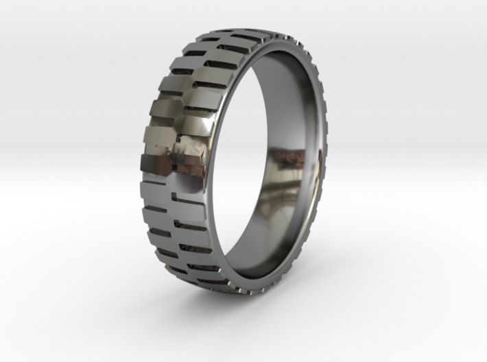 Heavy Loader Tire Tread Ring Sizes 6-13 3d printed