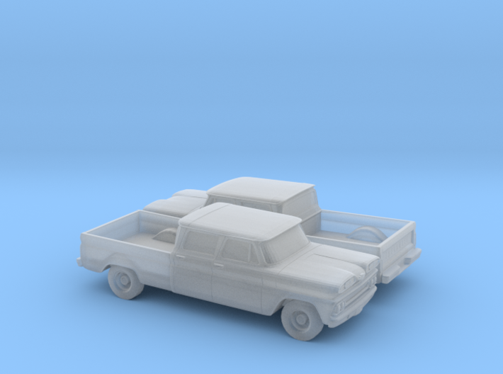 1/160 2X 1960-61 Chevrolet C10 Fleetside Crewcab 3d printed