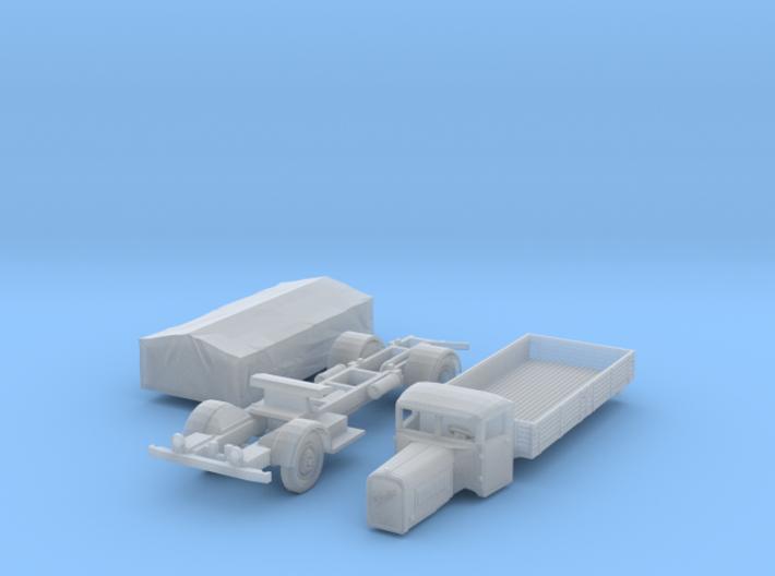 Henschel 6J2 Pritsche mit Plane (N 1:160) 3d printed