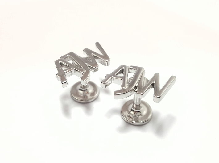 Personalised monogrammed cufflinks 3d printed personalised monogrammed cufflinks polished sterling silver