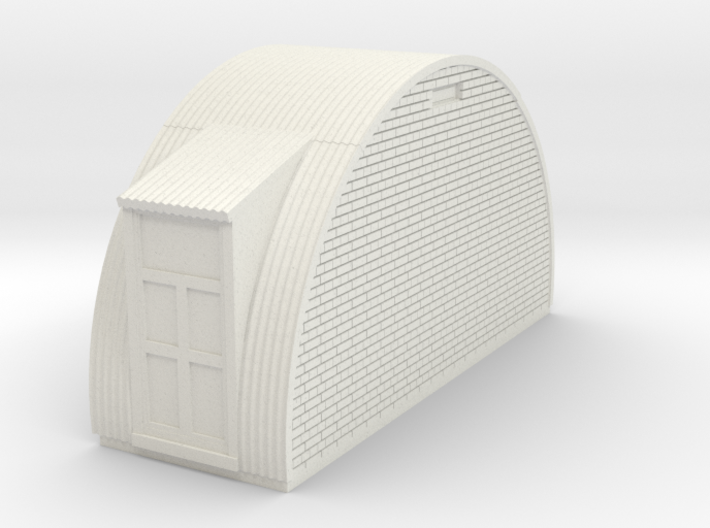 N-87-complete-nissen-hut-end-brick-door-l-16-36-1a 3d printed
