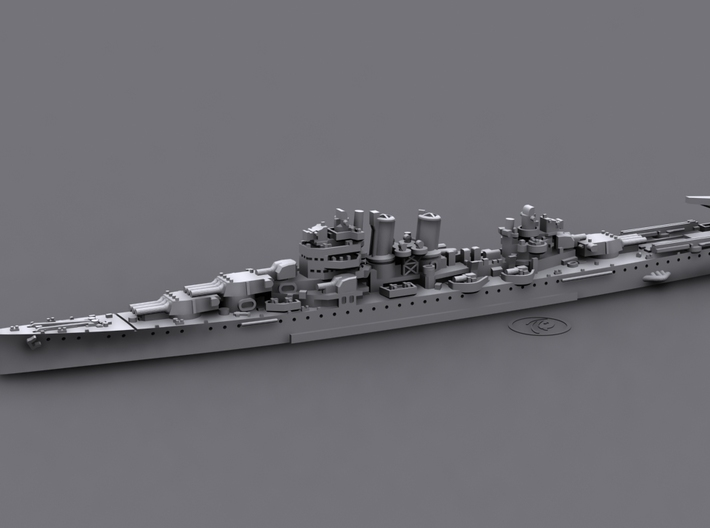 1/1800 USS Wichita[1942] (CA-45) 3d printed Computer software render