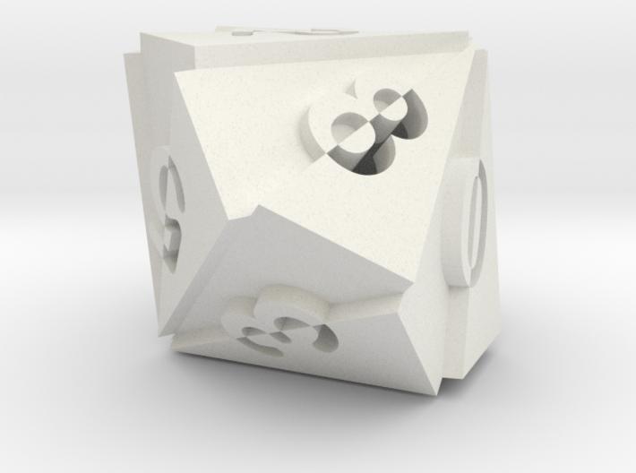 Optical Art D10 Dice 3d printed