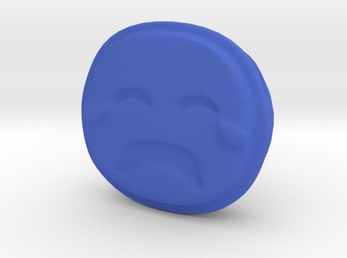 Sad Crying EMOJI Face Pendant Charm 3d printed