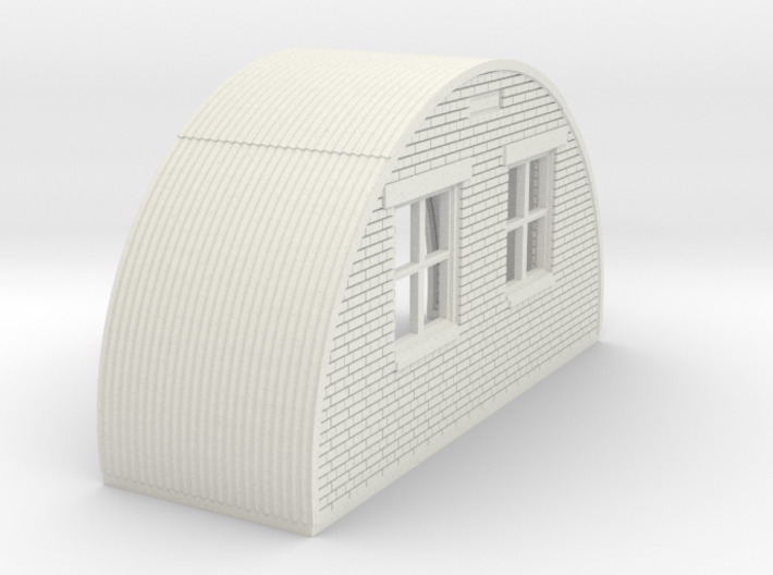 N-87-complete-nissen-hut-back-brick-right-door-16- 3d printed