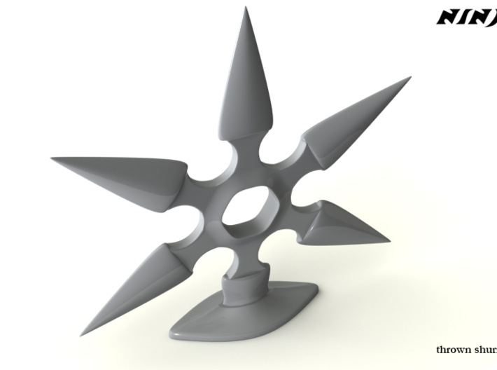 Thrown Shuriken 3d printed