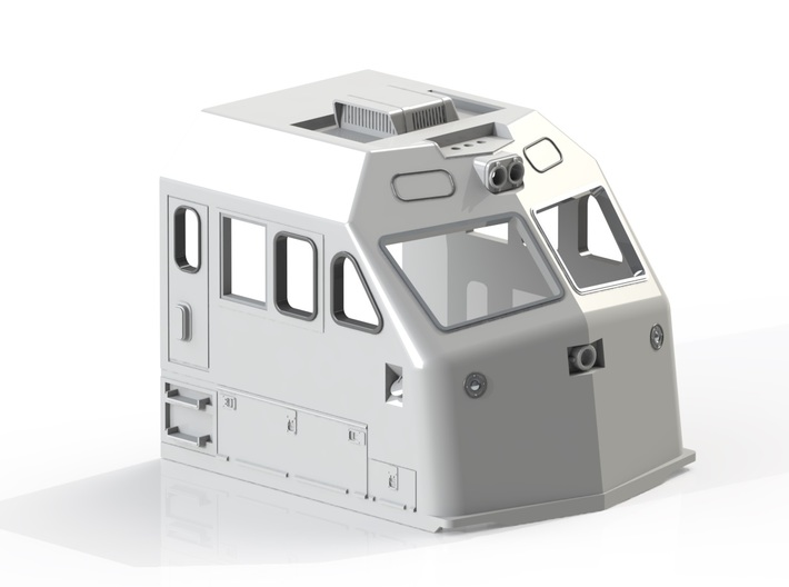 HO F69PH-AC Cab for Kato F40PH 3d printed Rendering of detailed cab