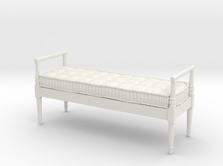1:24 French Country Bench 3d printed