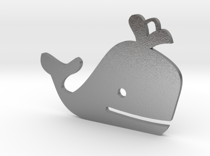Necklace - Whale 3d printed