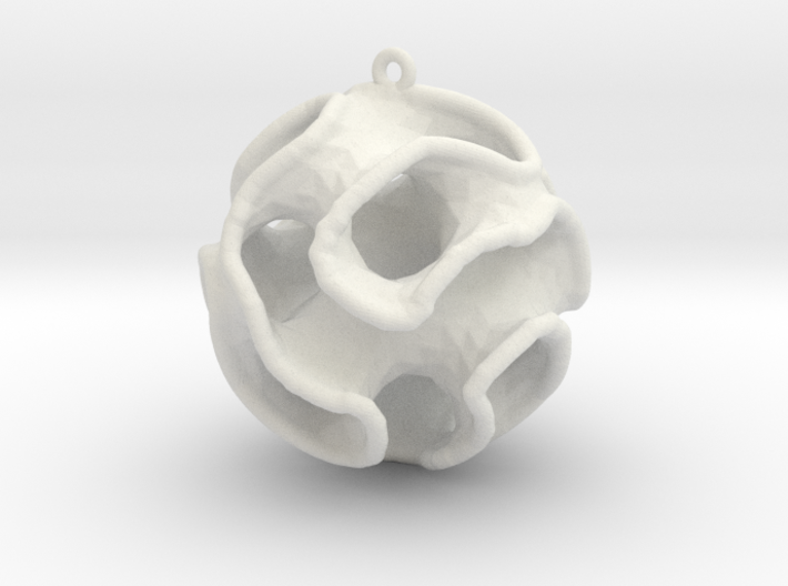 Gyroid Christmas Bauble 3d printed