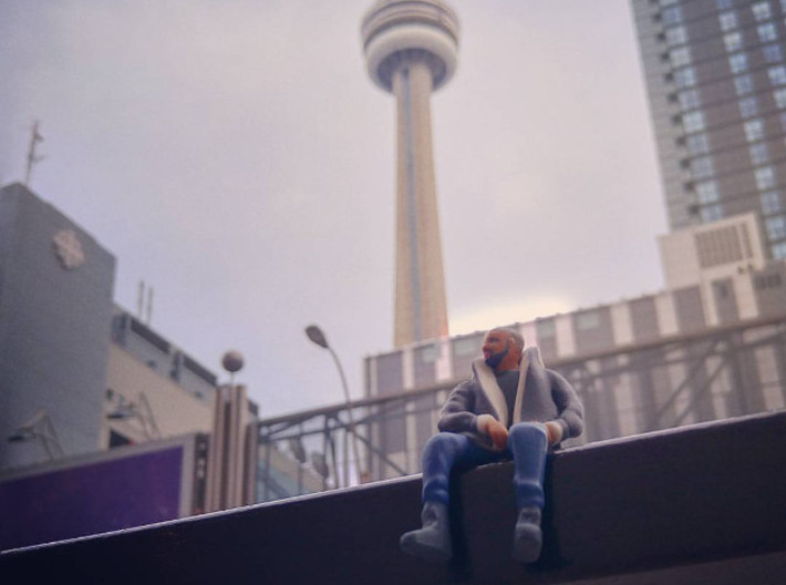 Drake | Tiny Views 3d printed Drake's #views are just fine from down here