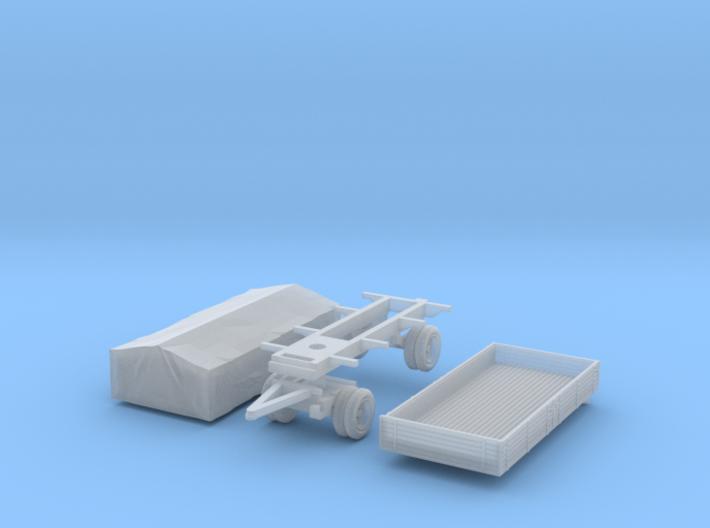 Pritschenanhänger mit Plane (1/144) 3d printed
