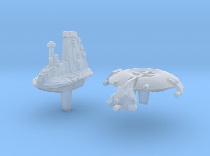 (Armada) 1x Neimoidian Shuttle + 1x Droid Gunship 3d printed