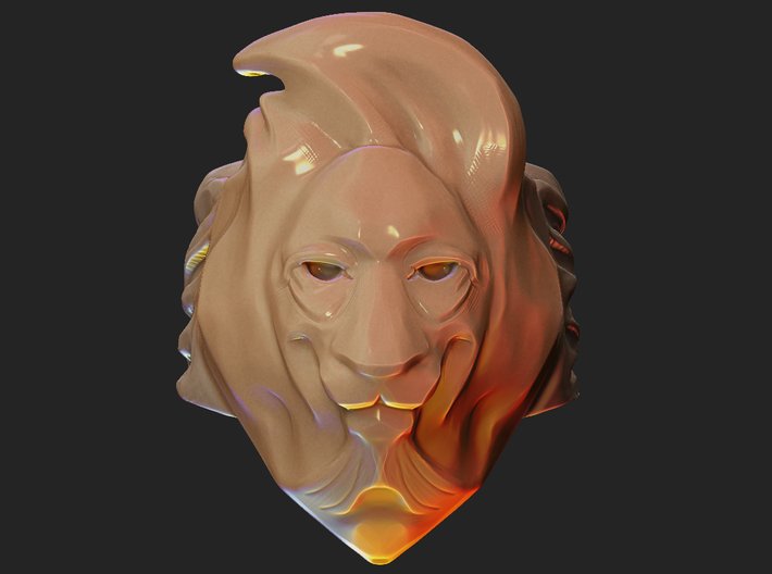 Lion Ring 3d printed Front