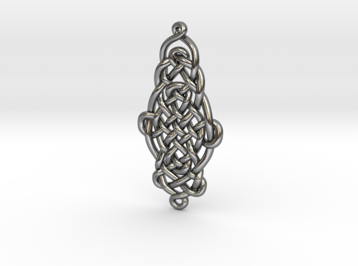 Raindrop Celtic Knot Pendant 20mm 3d printed