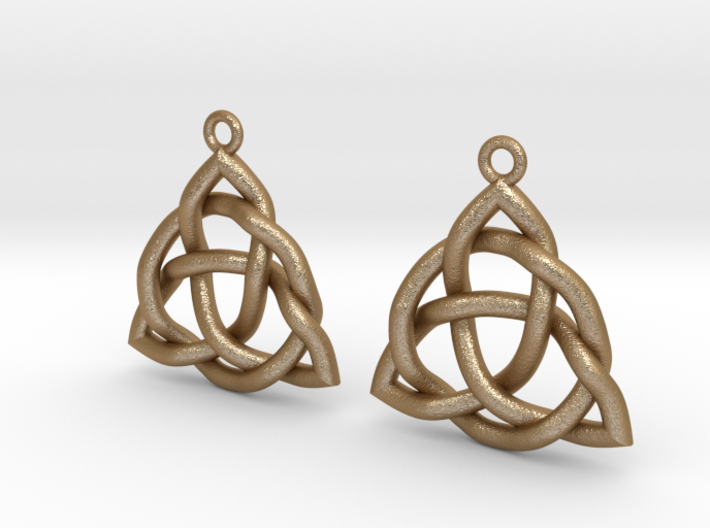 Triquetra Earrings 3d printed