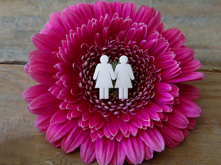 Man Loves Woman Pendant - Love is Love Collection 3d printed