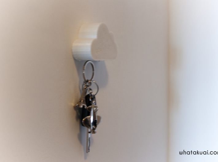 Cloud Shaped Magnetic Key Holder 3d printed Cloud shaped key holder