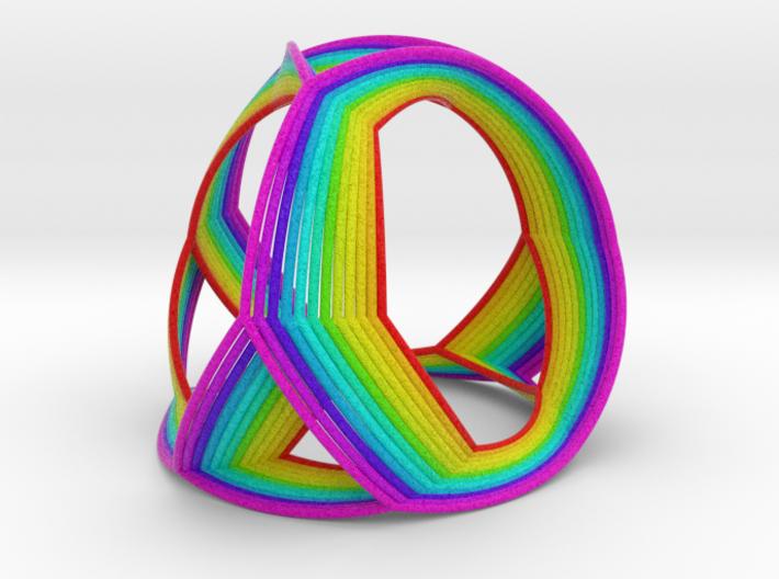 0408 Spherical Truncated Tetrahedron (d=12cm) #005 3d printed