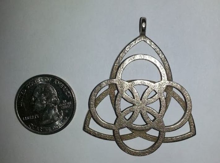 Celtic Necklace Pendant or Keychain 3d printed Printed in Stainless Steel