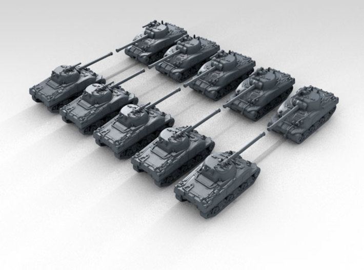 1/400 British Sherman Firefly Tank (10) 3d printed 3d render showing product detail