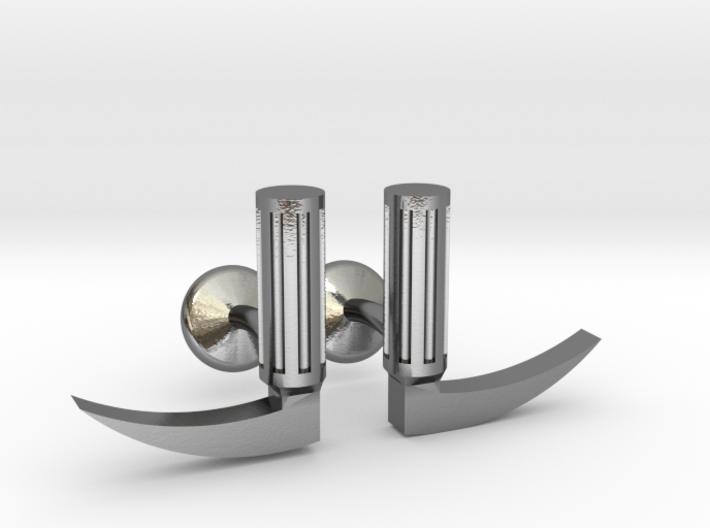 Laryngoscope cufflinks 3d printed