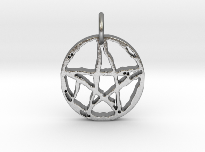 Rugged Pentacle 1 Keychain by Gabrielle 3d printed
