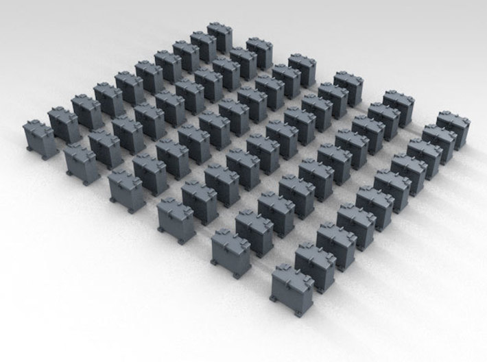 1/400 RN WW2 20mm Oerlikon Ammo Locker (50) 3d printed 3d render showing product detail