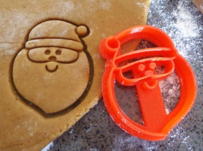 Santa Cookie Cutter 3d printed