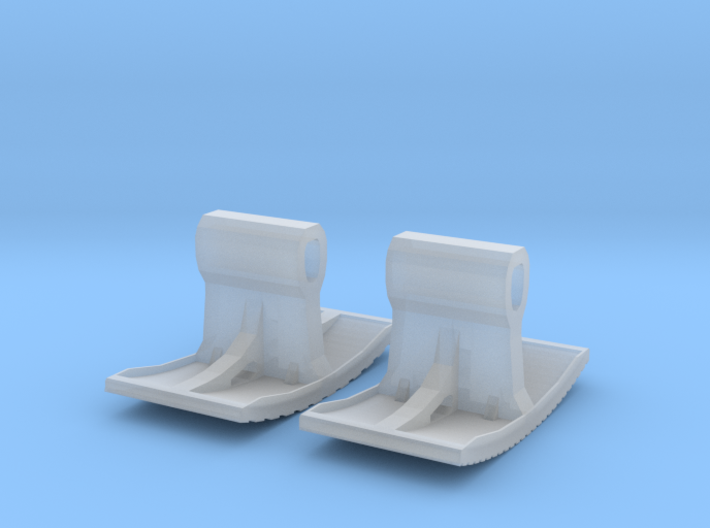 Row paving and stretcher bond stamps (N 1:160) 3d printed