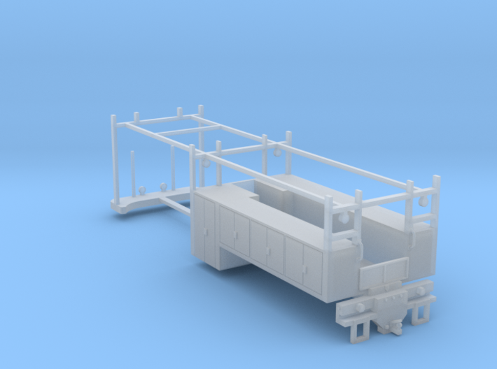 4 Door 2 Axle Construction Bed Tall Cabinets (FUD) 3d printed