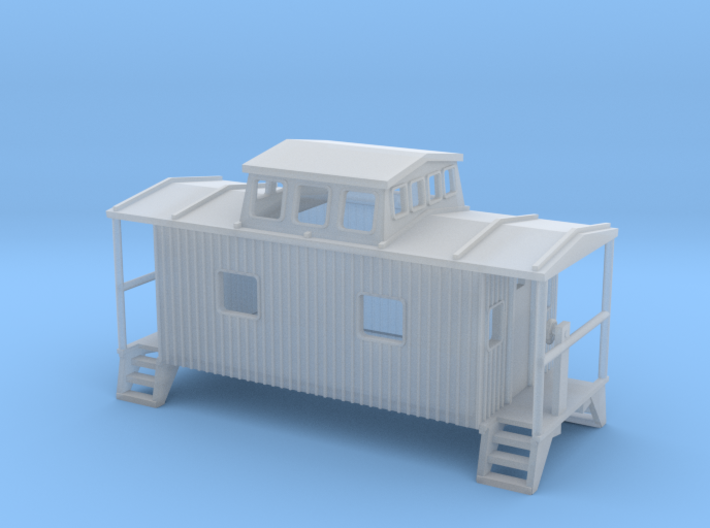 Bobber Caboose - Zscale 3d printed