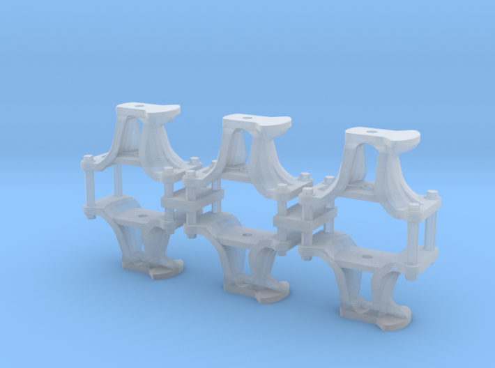 HO Scale CPR short switch stands 3d printed