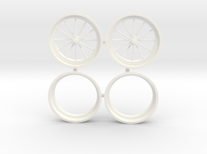 12 Spoke front drag wheels 1/12 3d printed