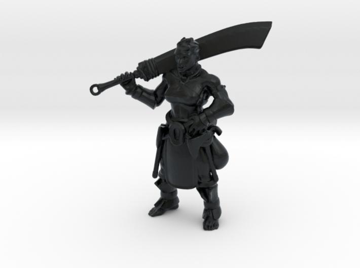 Half Orc Barbarian 3d printed
