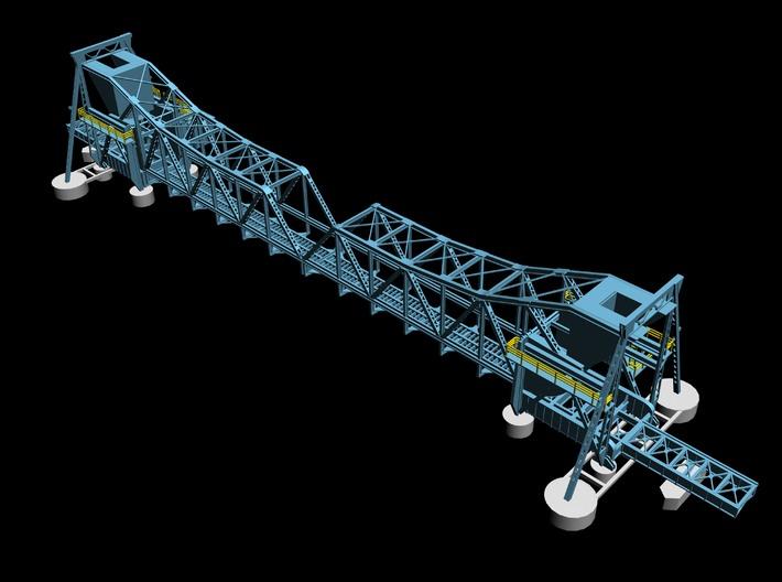Pamban Bascule Bridge Z Scale 3d printed render of middle section o bridge