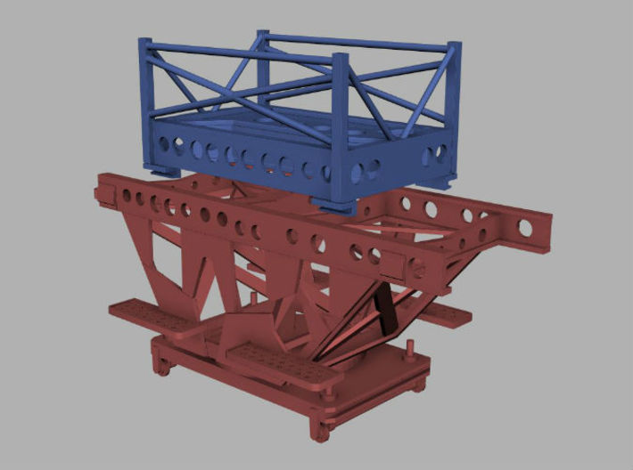 1/48 IJN Trolley & Trailer for Two Float Plane 3d printed