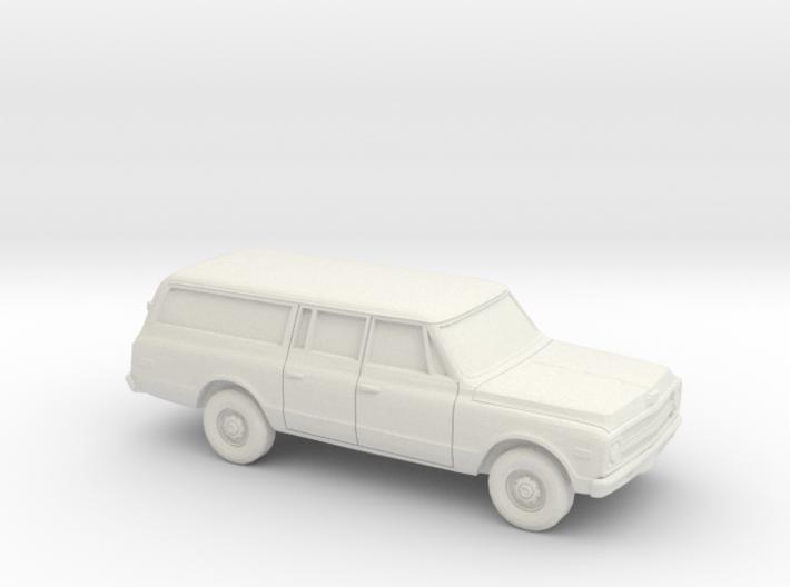 1/64 1967-70 Chevrolet Suburban Split Rear Door 3d printed
