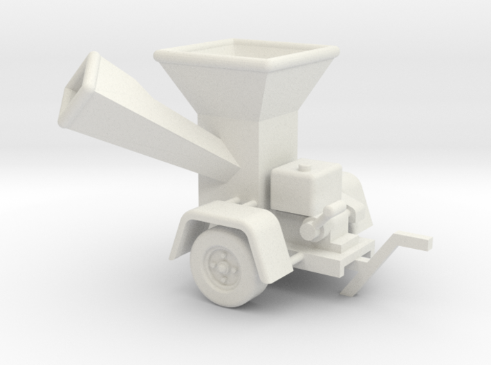 Wood Chipper Industrial - HO 87:1 Scale 3d printed