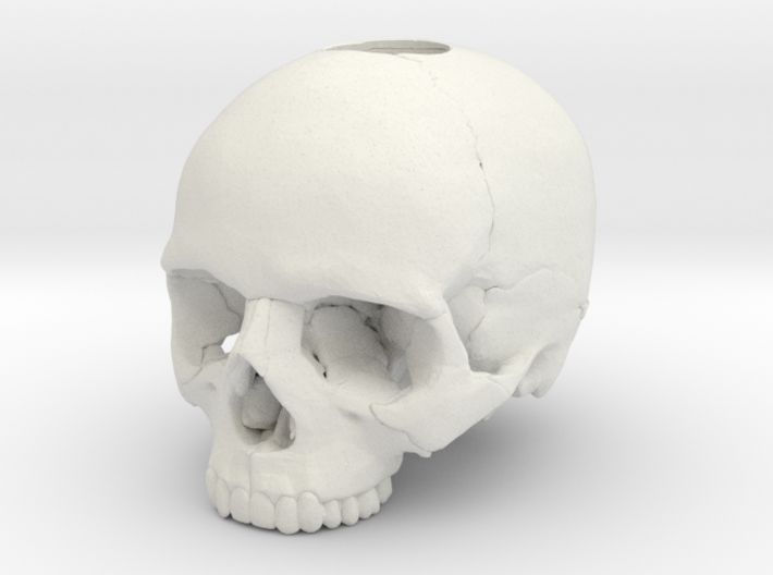 30mm 1.18in Keychain Skull (8mm/0.31in hole) 3d printed